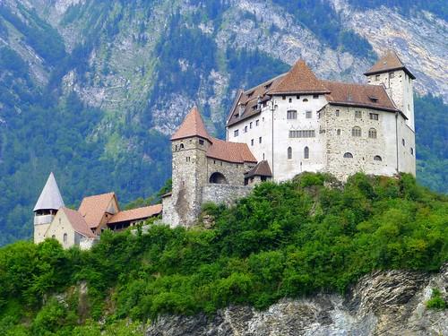 Burg Gutenberg, a 12th century castle in the centre of Balzers, Liechtenstein