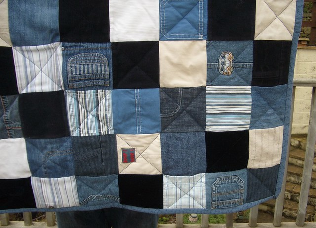 Baby Clothes Patchwork Quilt