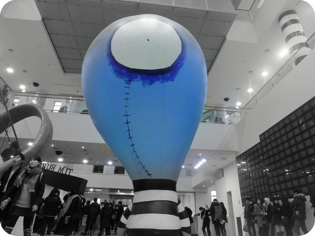 Tim-Burton-exhibit-Seoul-blue-head