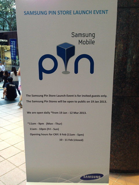 Samsung Mobile PIN Singapore - Opening Hours