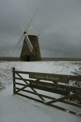 Halnaker Windmill in the Snow