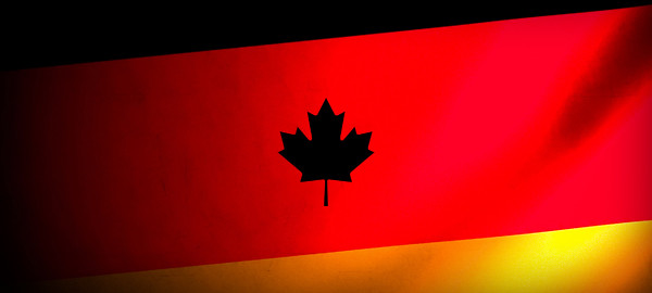 German-Flag-with-Maple-Leaf