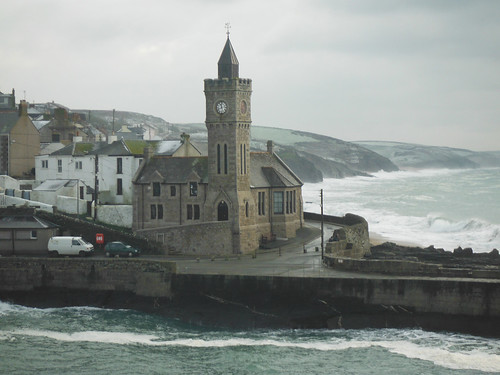 Porthleven - snowy morning of 21st January 2013 by Stocker Images