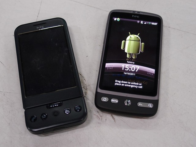 HTC Dream and HTC Desire android smart phones