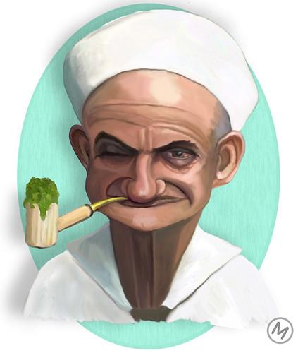 Popeye y su pipa de hierba by JLMeana