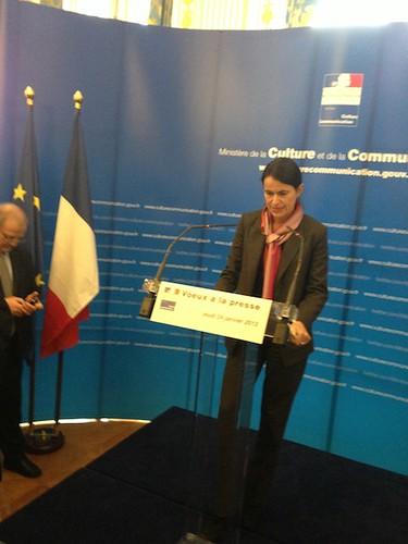 Aurélie Filippetti, ses voeux à la presse 2013