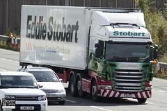 Scania R440 6x2 Tractor - PJ11 YCC - Gail - Green & Red - Eddie Stobart - M1 J10 Luton - Steven Gray - IMG_8923