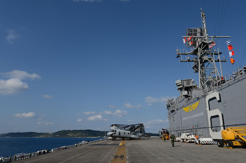 USS Bonhomme Richard (LHD 6) arrives in White Beach, Okinawa