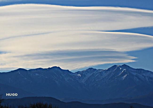 effet de foehn sur le massif du Canigou début janvier 2013 météopassion