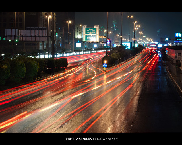 King Fahd Road During Rain