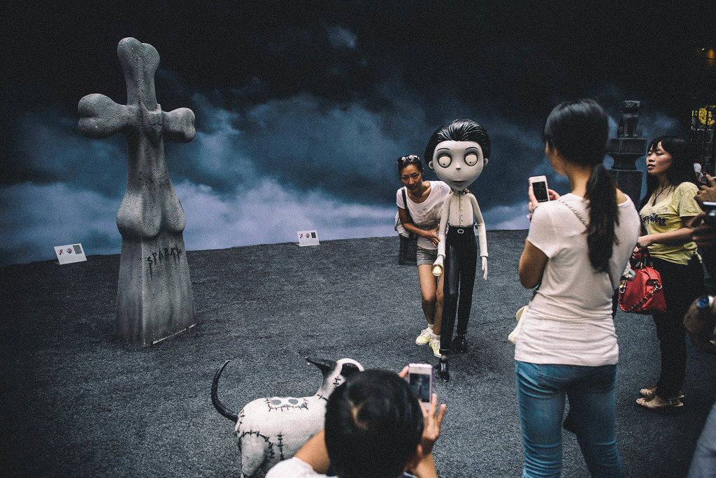 On the set of Frankenweenie?