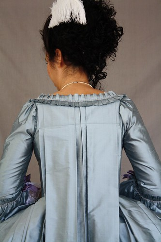 Finished gown, back detail