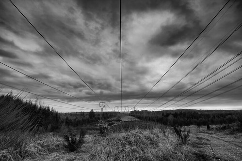 powerline power structures blackandwhite black white bw contrast electricty towers clouds horizon sky trees country canon wideangle blackdiamond vast canoneos7d tamronspaf1024mmf3545diiildaspherical johnwestrock washington