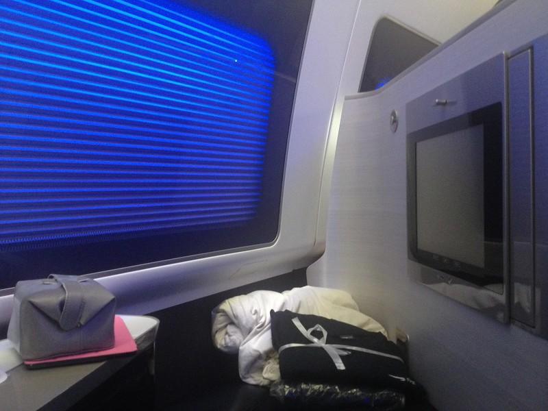 BA First Class window