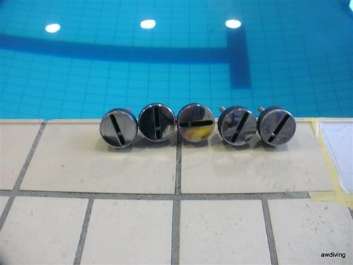 Vloerpotten voor zwembad / onderwater boren