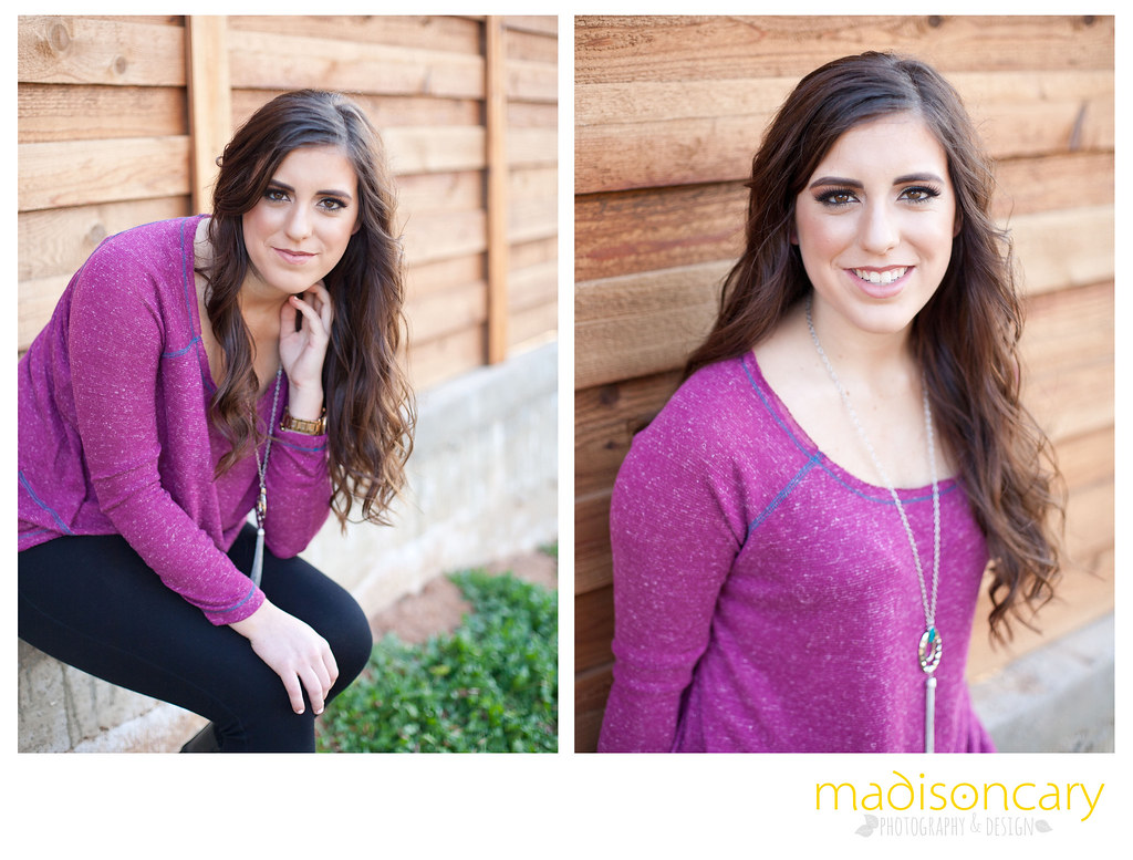 senior girl midland texas wood fence