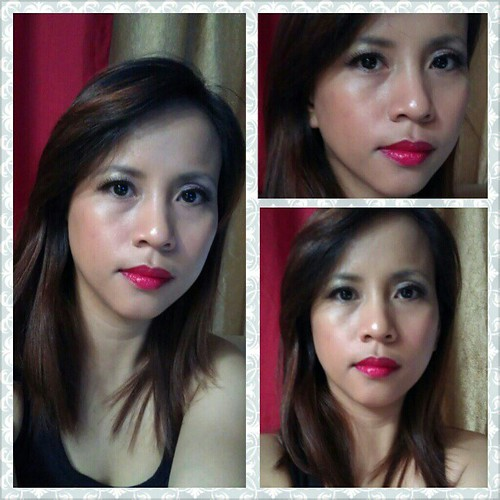 Ne so likey Maybelline's red #lippies #645 Color Sensation it makes me look so tisay lolz! #nofilter #Makeup #vain #selfportrait #FOTD