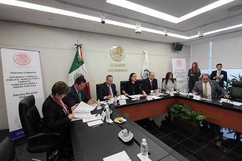 El día 24 de agosto del 2016 se llevó a acabo en el Senado de la República la Tercera Comisión Hacienda y Crédito Público, Agricultura y Fomento, Comunicaciones y Obras Públicas.