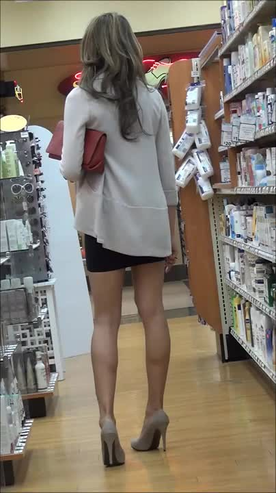 Something Asian candid leg was specially