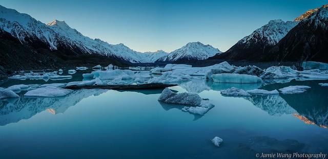 Tasman glacier lake - Mr Cook national park, New Zealand.