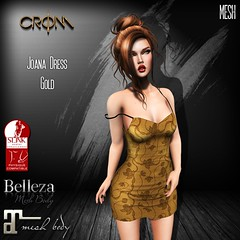 -CroM- Joana Dress - Gold - PROMO 25 L