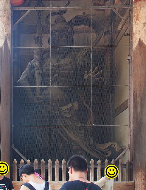 大華嚴寺山門(南大門)的木造金剛力士立像