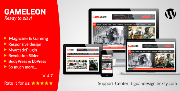Gameleon v5.1 - WordPress Magazine & Arcade Theme