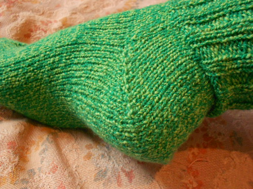 Носки 6 от мыска пятка крупно