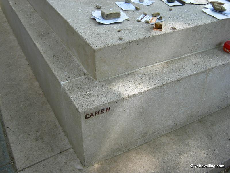 Grave of Simone de Beauvoir and Jean Paul Sartre