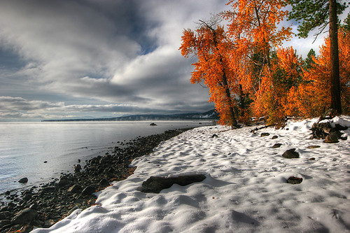california autumn winter usa laketahoe