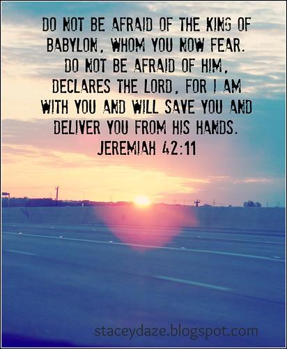 jeremiah 42 11
