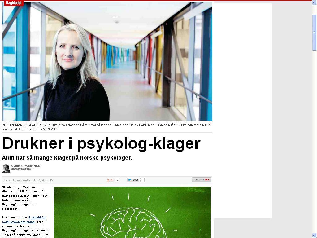 klage på psykologer
