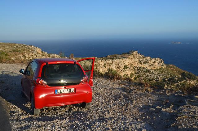 Nuestro coche de alquiler en Malta