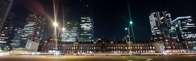 Tokyo station panorama
