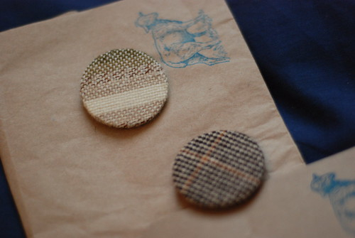 Wovember tweed wool badges pins buttons
