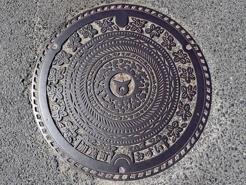 Kamo town Shimane pref, manhole cover (島根県加茂町のマンホール)