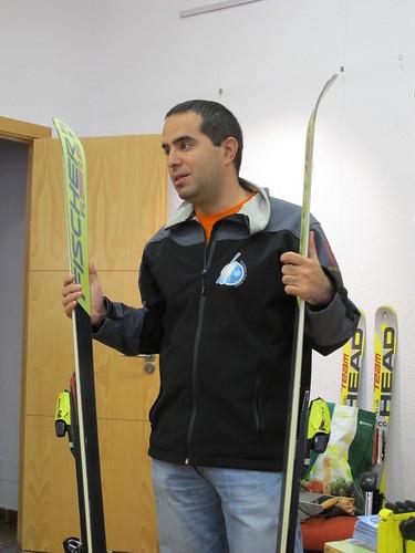 Teórica reparación de esquís