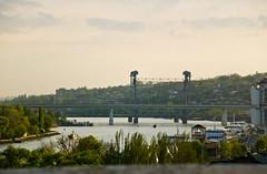 Rostov on Don - Ponts routier et ferroviaire vus depuis le Pont Voroshilovskiy