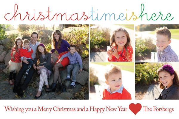 Personalized family christmas cards christmas time is for Unique family christmas cards