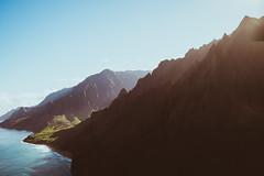 [フリー画像素材] 自然風景, ビーチ・海岸, 山, 岩山, 風景 - アメリカ合衆国, アメリカ合衆国 - ハワイ州, ナ・パリ海岸 ID:201211161600