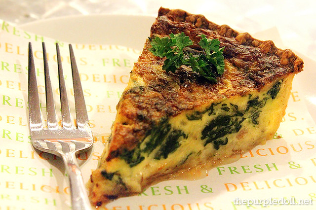 Spinach and Bacon Quiche P180