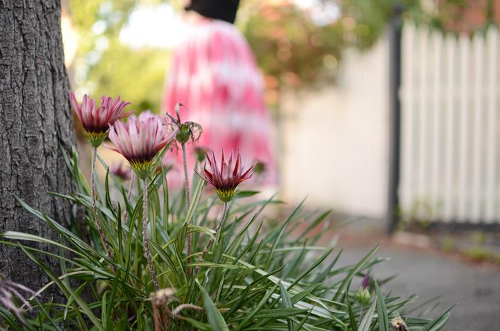 pink vintage skirt black a