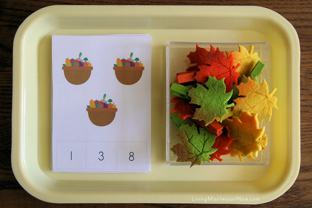 Thanksgiving Count and Clip Cards