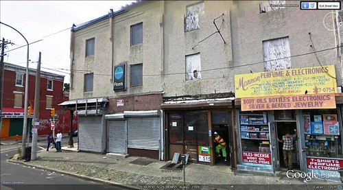 Germantown Ave at Huntingdon St in Philladelphia (via Google Earth)