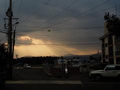 Sun-ray over the cloud