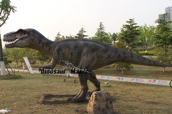 Amusement Park Animatronic Dinosaur in the outdoor