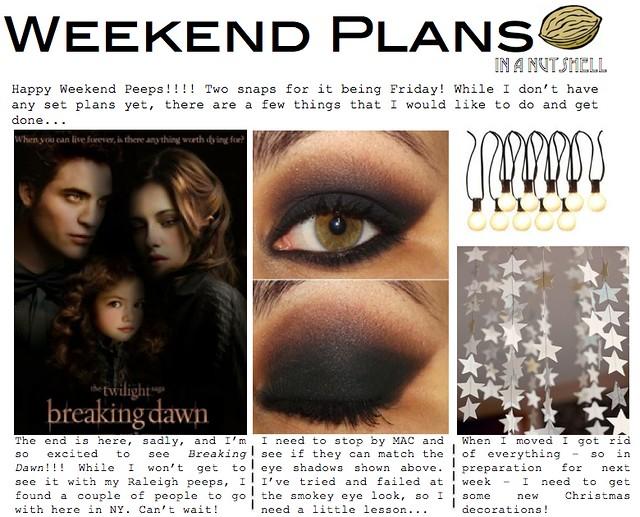 weekend plans 11.16.12