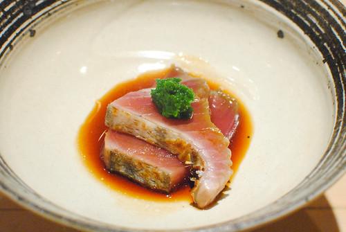 smoked bonito sashimi