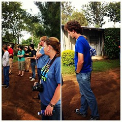 The team on tour of the campus #KenyaRelief2012