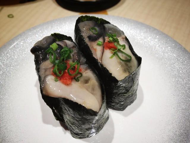 Oyster Gunkan Maki Sushi, Ryoshi Sushi Ikeikemaru